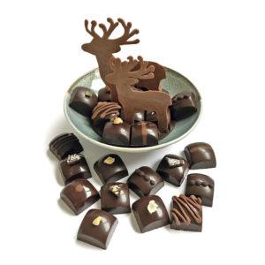 Coupelle en grès et chocolats